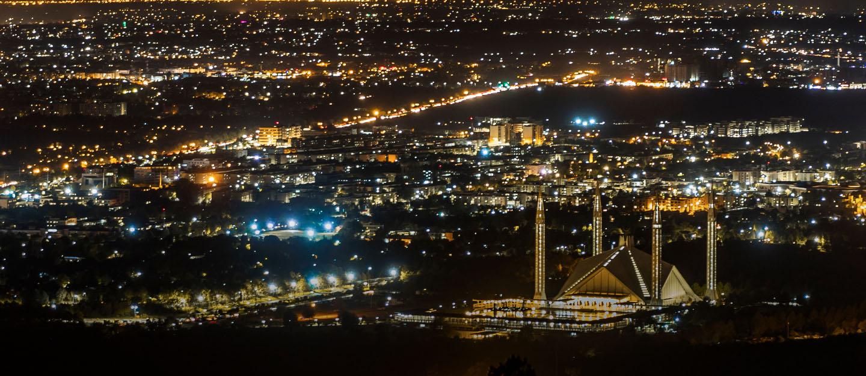 Night view of Islamabad