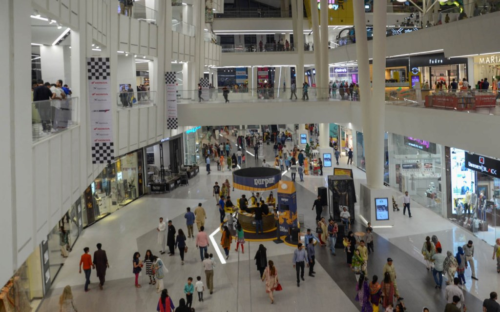 Emporium Mall is spread over 11 floors and contains more than 200 shops