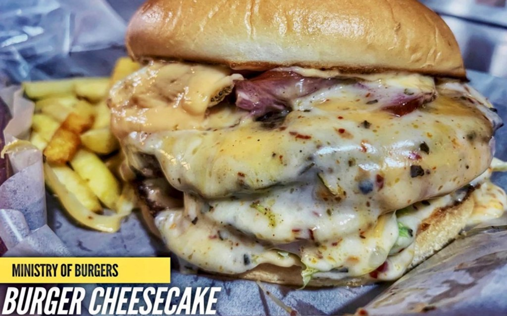 Burger Cheesecake of Ministry of Burgers is one of the best burgers in Lahore