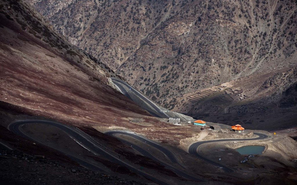 The paved serpentine Babusar Pass can challenge the driving skills of the most experienced drivers