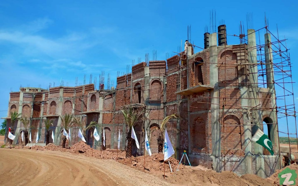The Entrance of Blue World City is Under Construction