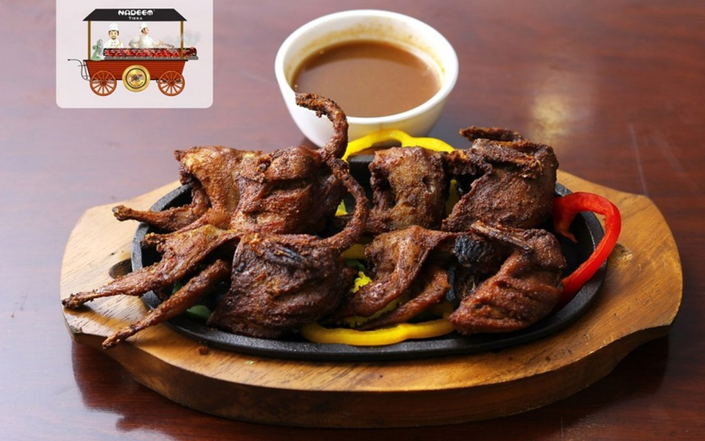 Enjoy quail meat at Nadeem tikka house