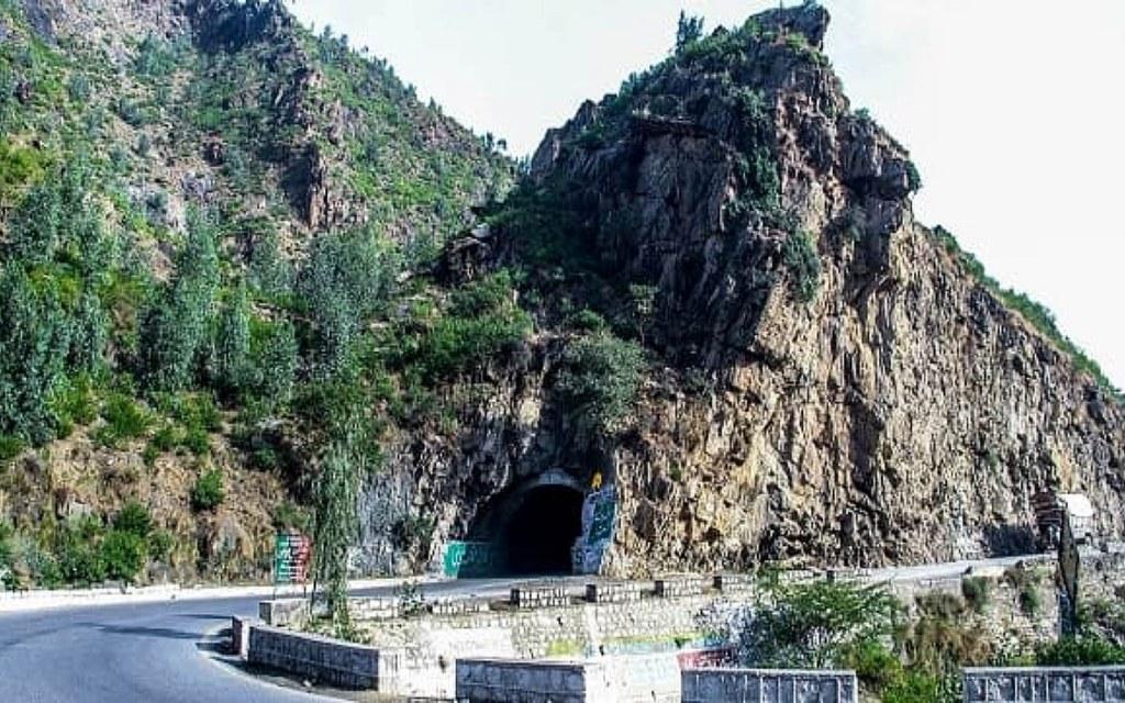 Malakand Tunnel is situated on Malakand Pass