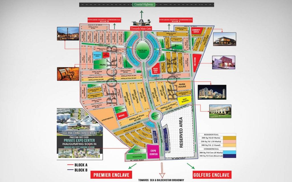 Master plan of Golf City in Gwadar