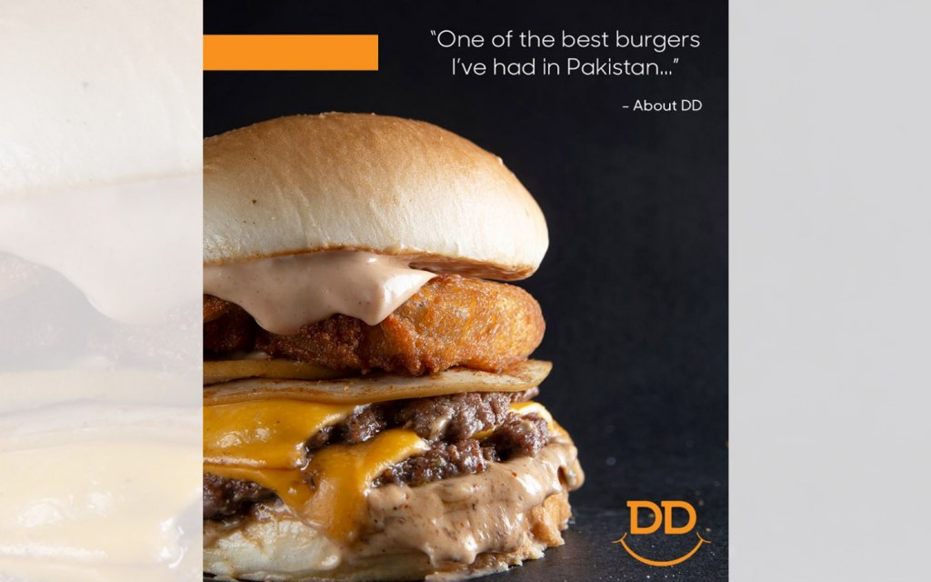 Popular burger place in lahore