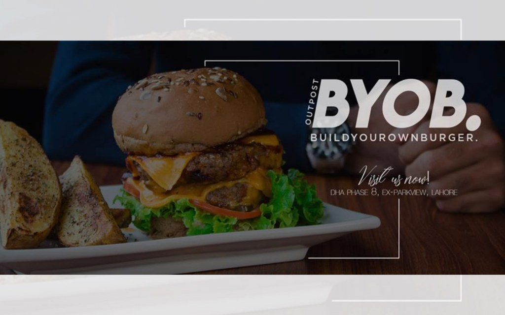 One of the top burger places in Lahore that offers customized burgers
