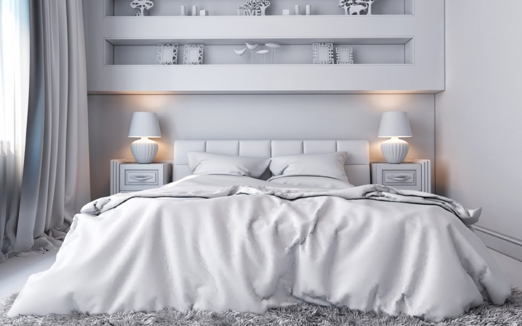 Make your small bedroom look bigger using white coloured walls