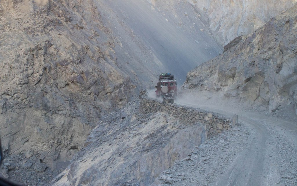 Reaching Shimshal is a thrilling adventure on an unpaved road passing over canyons and cliffs