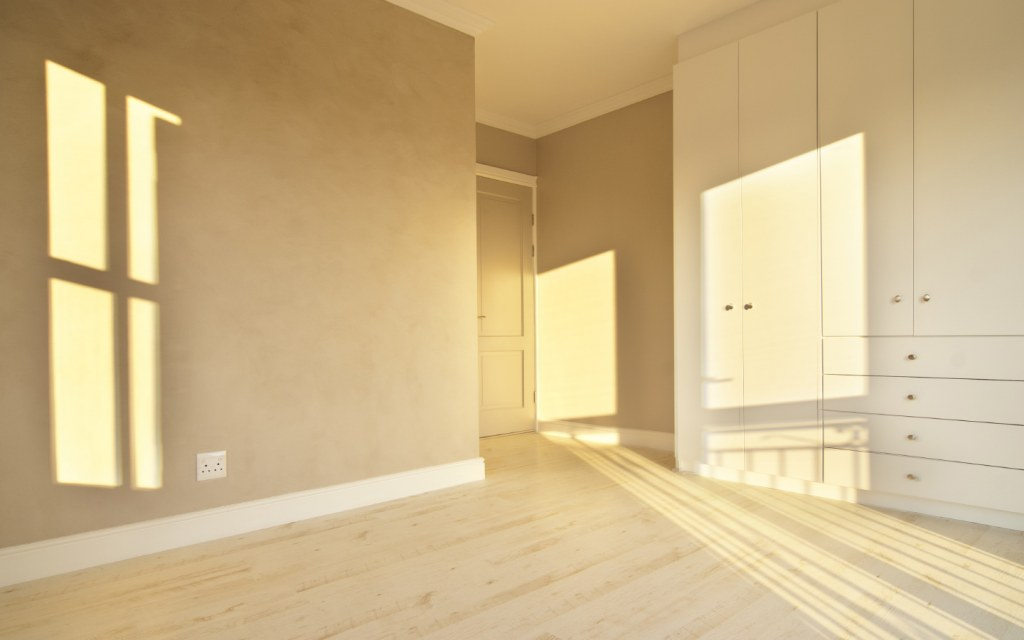 An empty room will usually look different than one that is filled with someone's belongings