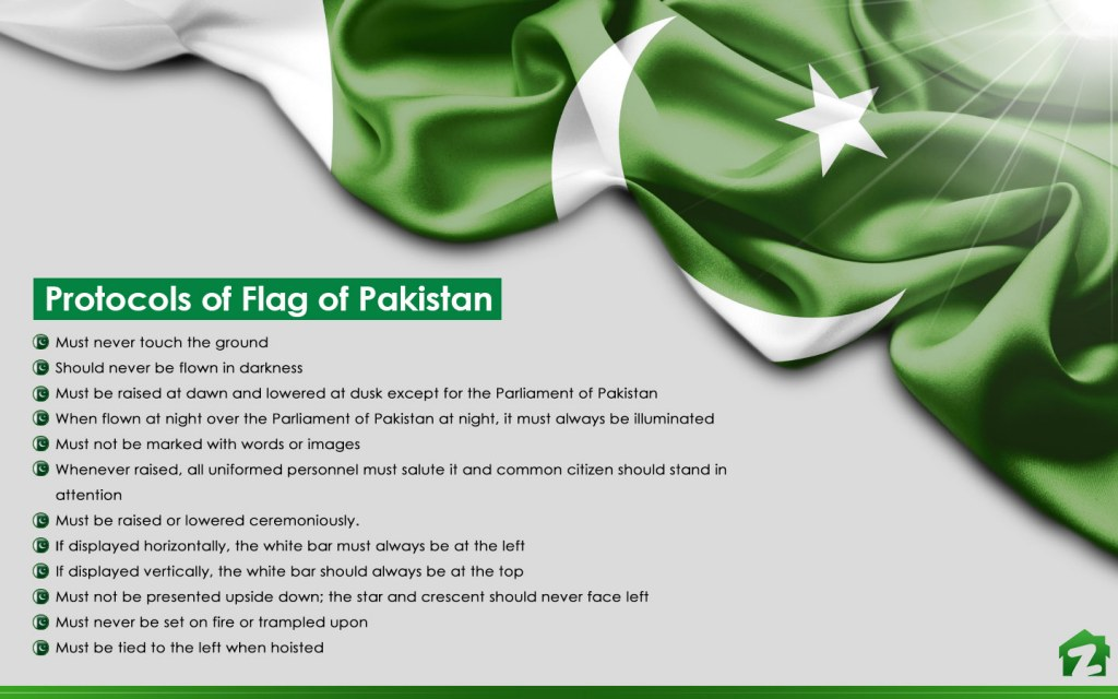 flag of Pakistan should never fall on ground
