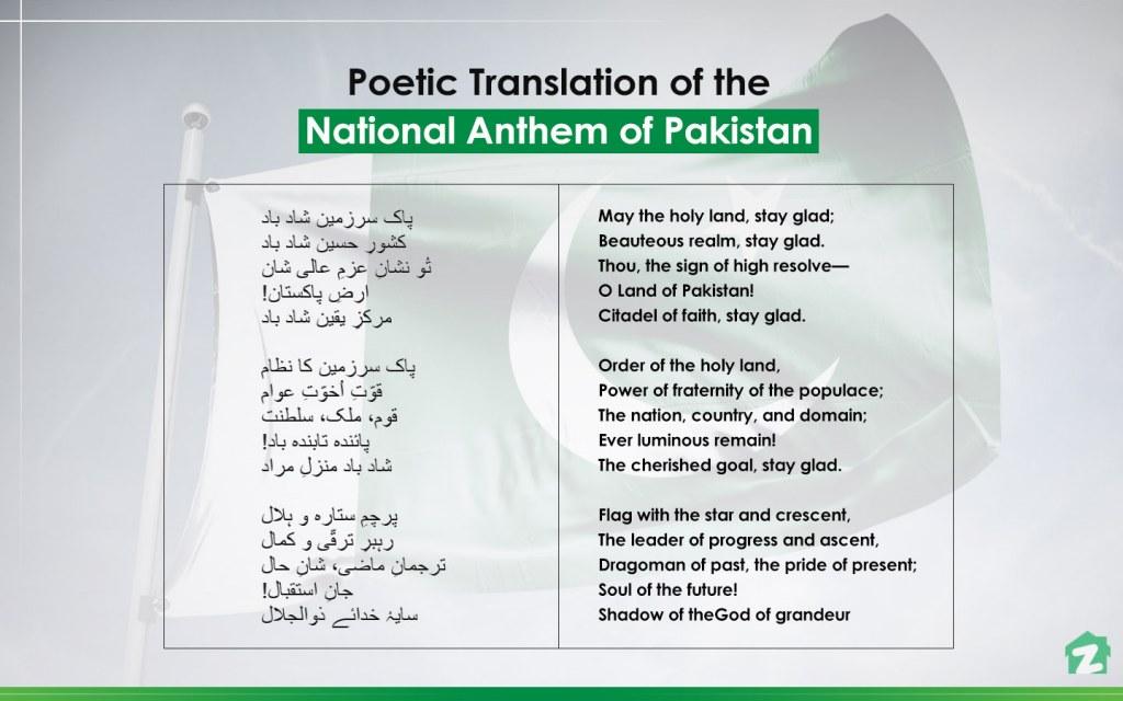 translation of national anthem of pakistan