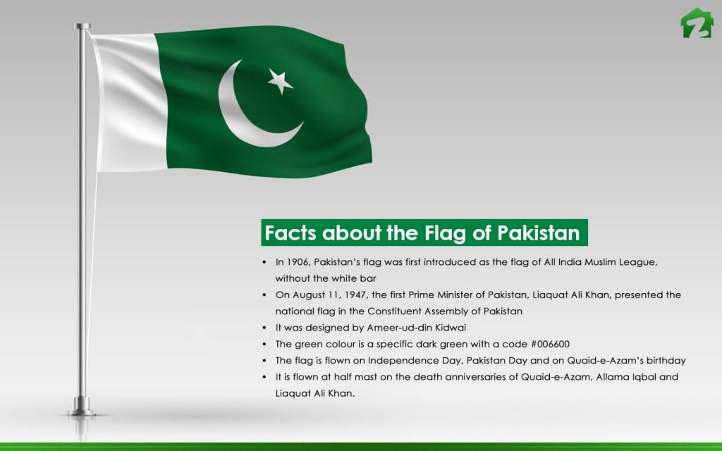 important facts of Pakistani flag