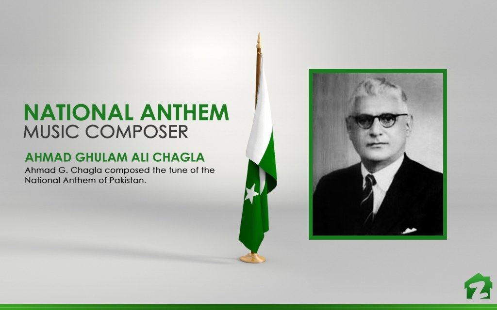 The music of national anthem of Pakistan is unique and melodious