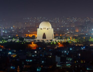 view of Karachi at night