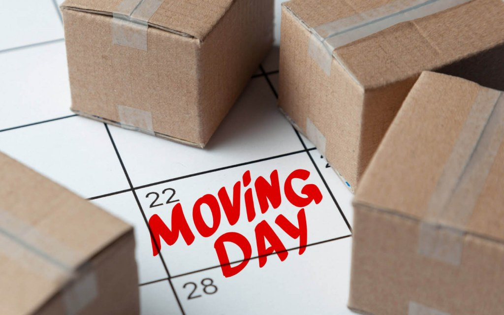 Mark your moving day and plan for it