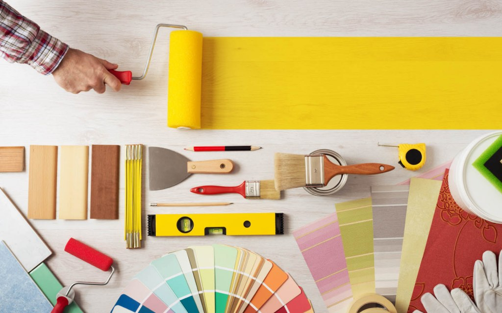 Use colour cards to choose which shades of paint you require for the home