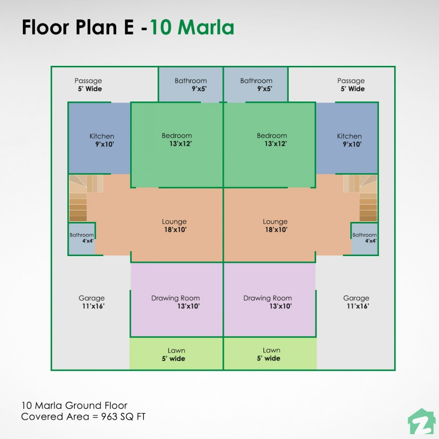 Create a joint family home with this 10 marla house map