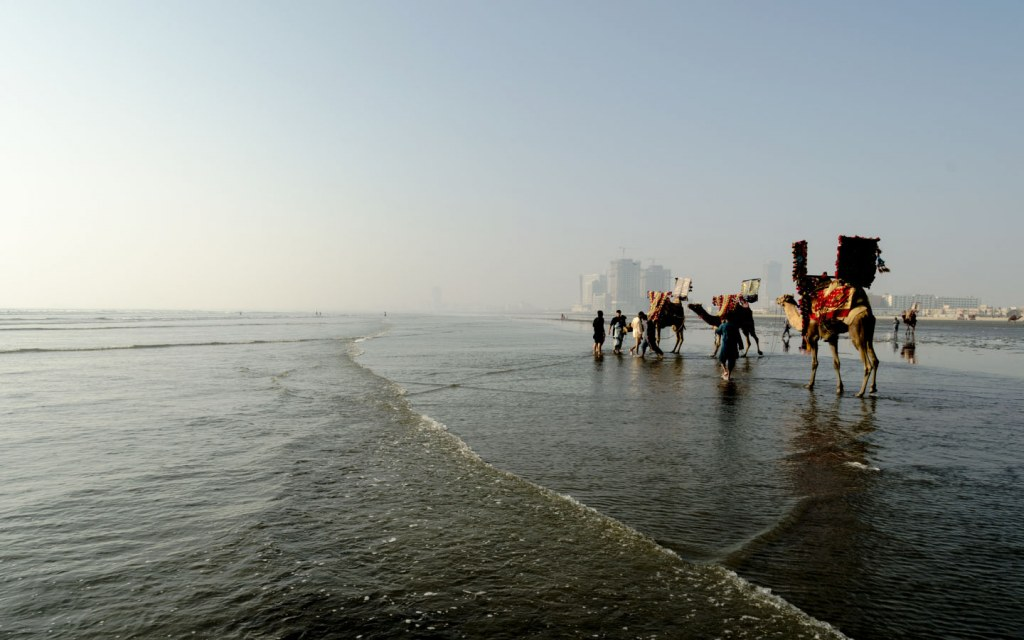 Sea View is the most popular beach in Karachi