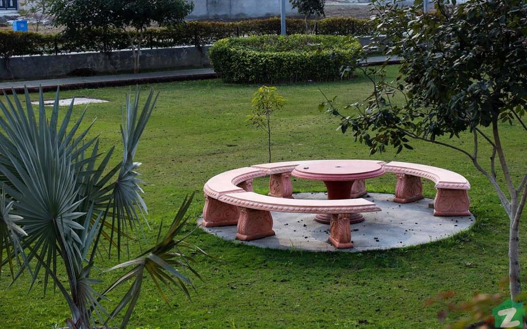 A communal park in DHA Rahbar 11, Lahore