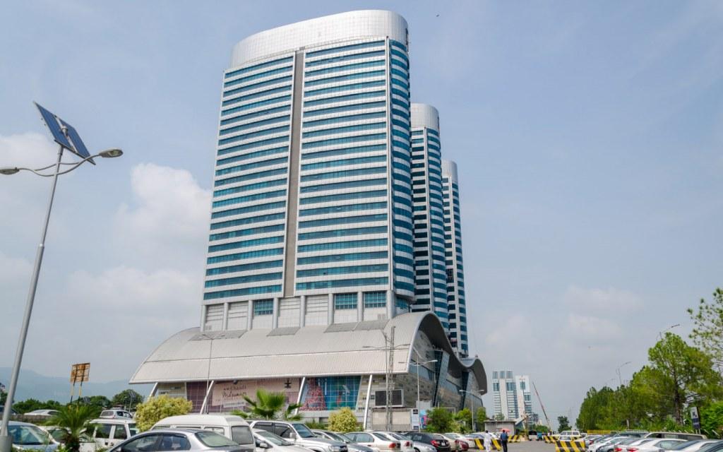 the three towers of Centaurus Islamabad