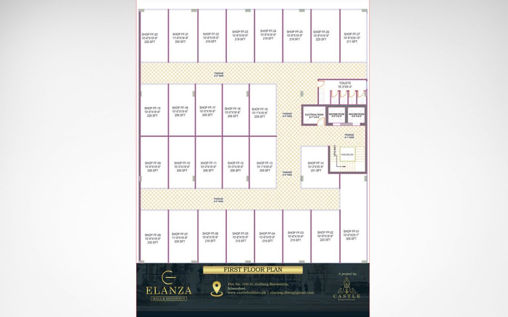 first floor plan of Elanza Mall & Residency