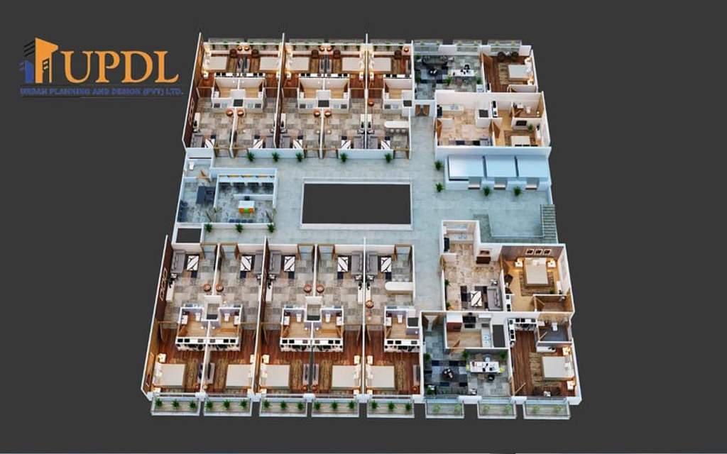 Floor plan of apartments in Elanza Mall