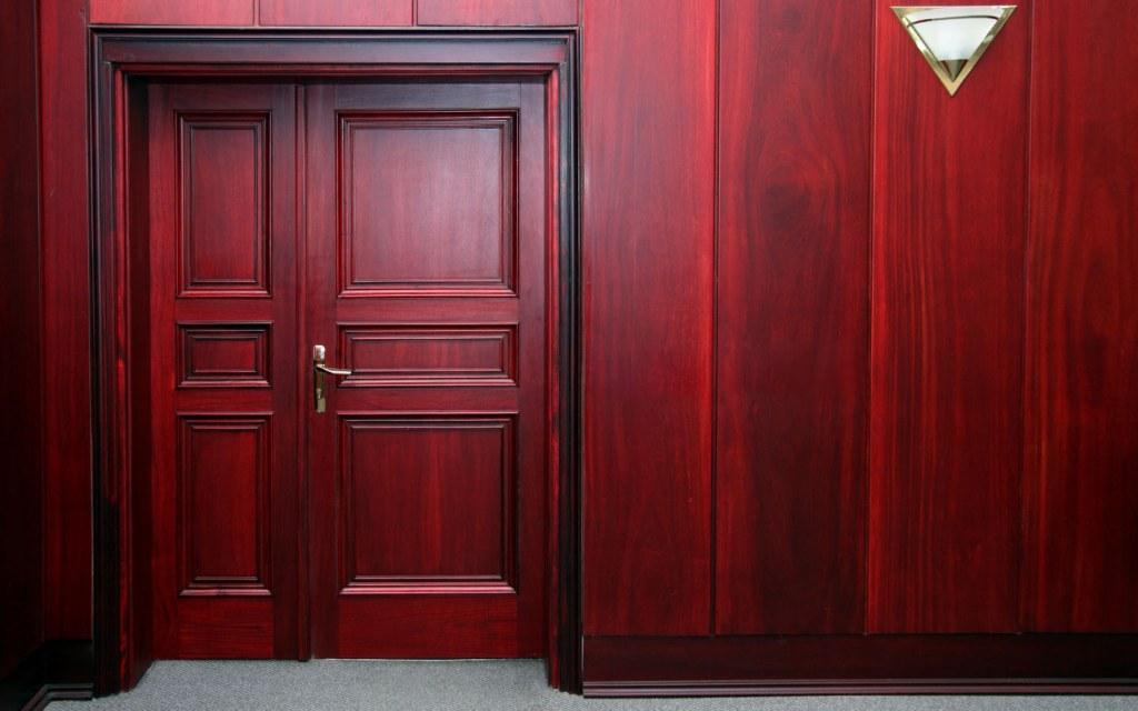 Mahogany wooden doors