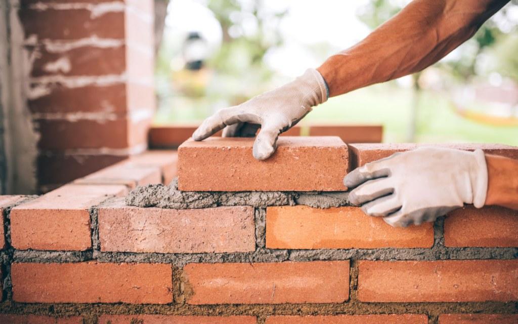 bricks at a construction site