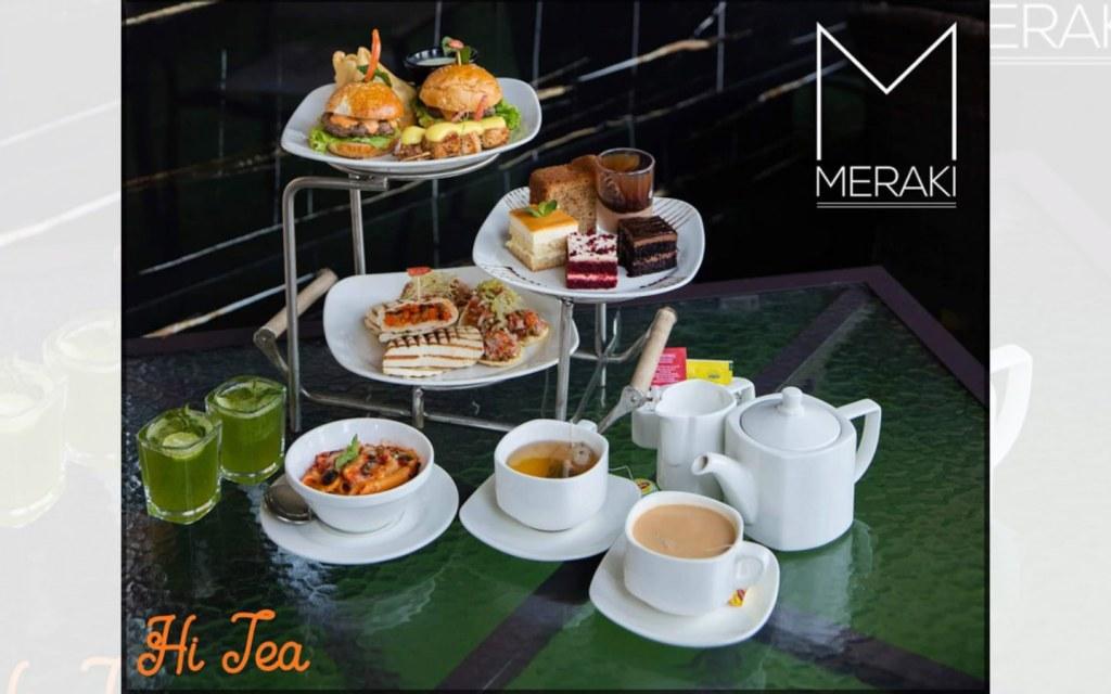 hi-tea platter at Meraki Islamabad