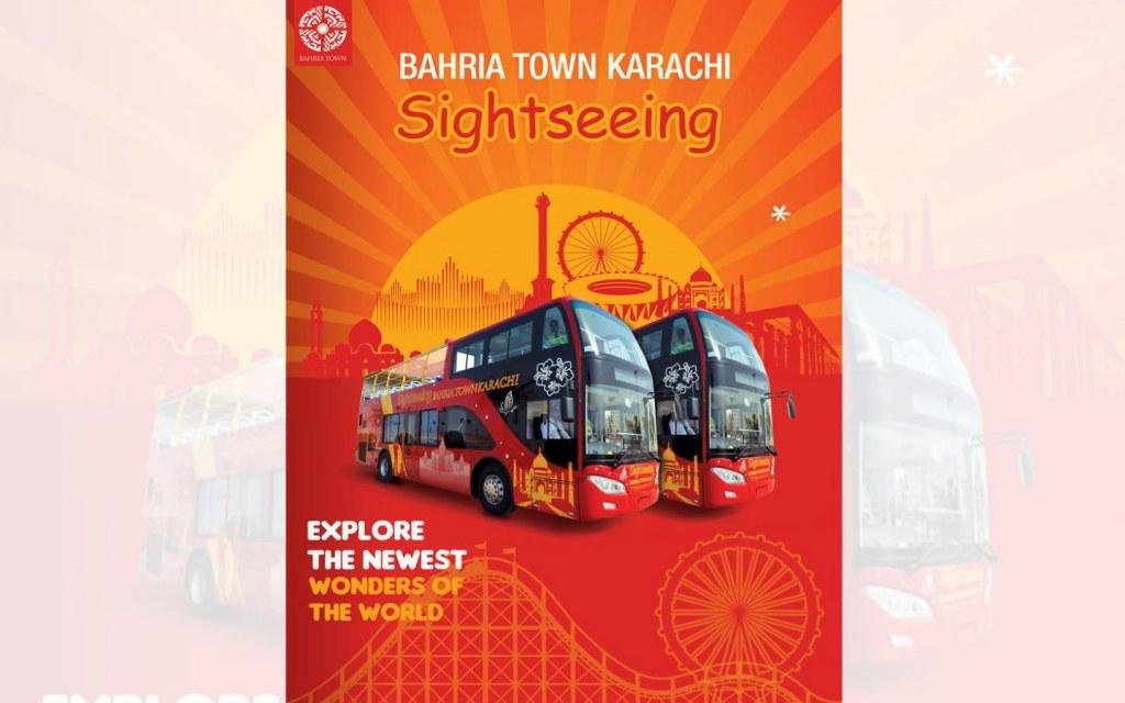Bahria Town Karachi also operates a sightseeing bus service