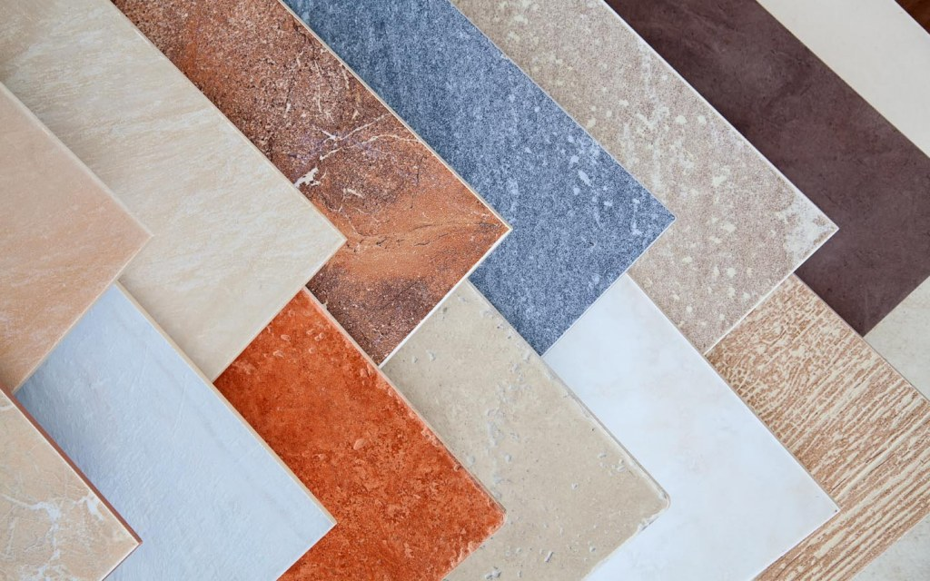 Ceramic tiles are available in a range of colours and patterns