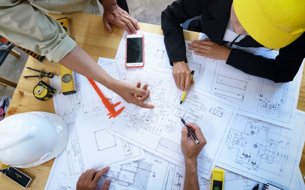 architectural maps for building a house