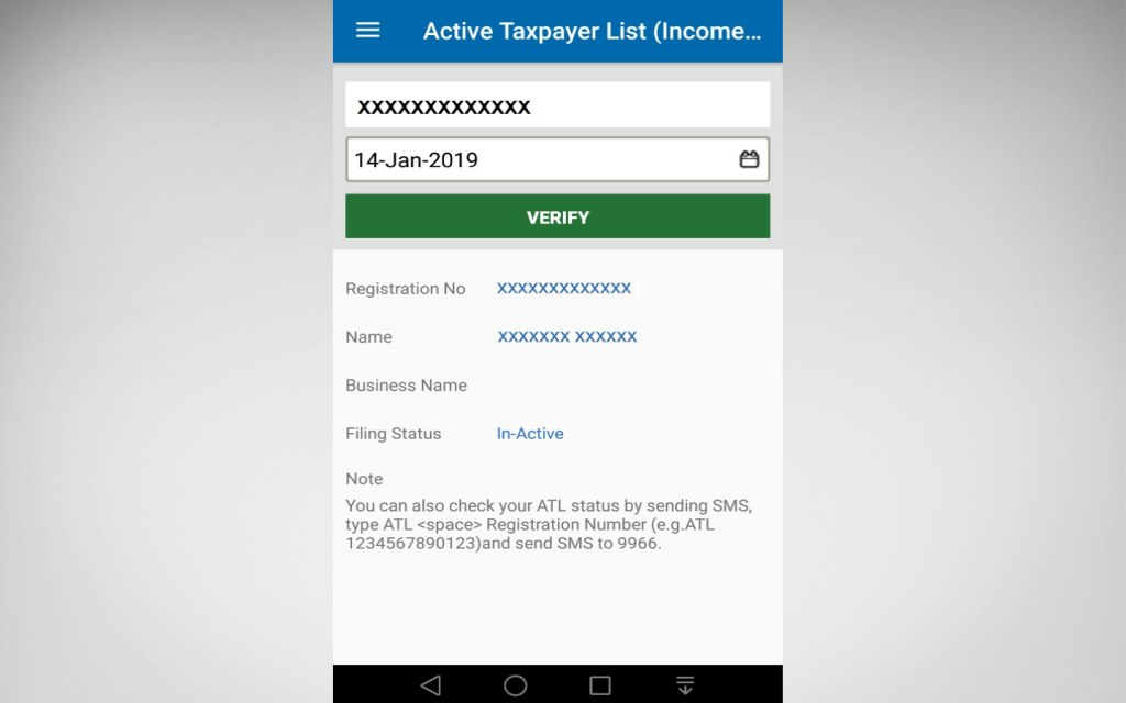 FBR's Tax Asaan App can help you get online verification services