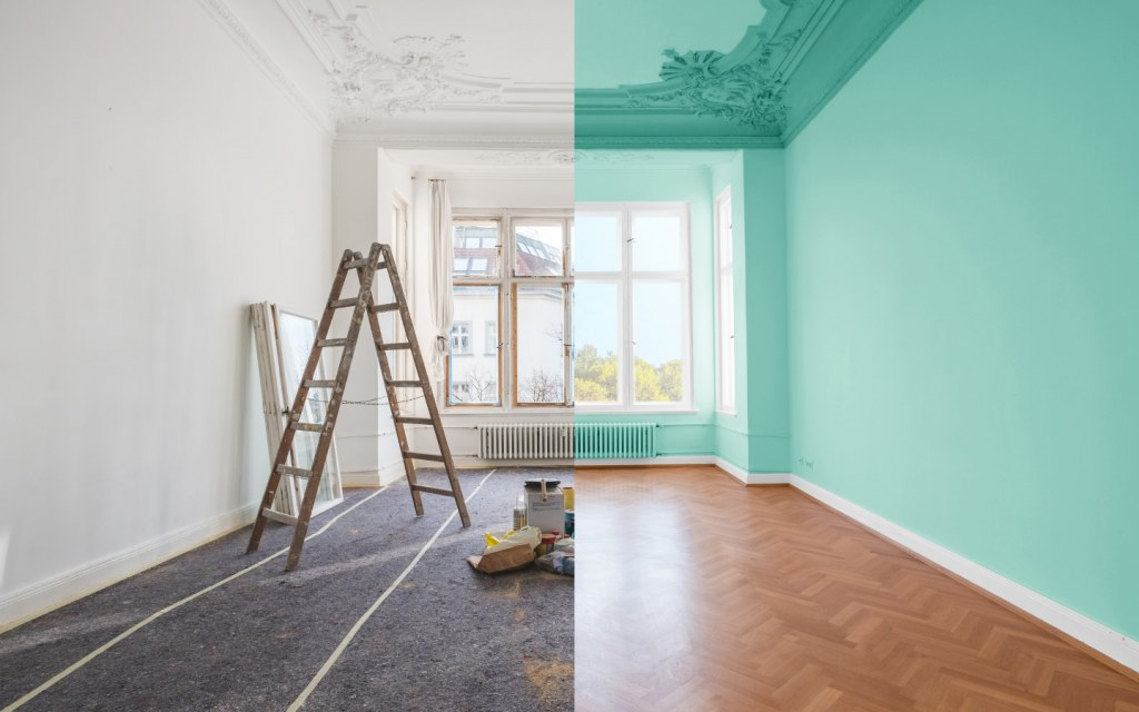 spruce up the current theme of your house by a fresh lick of paint