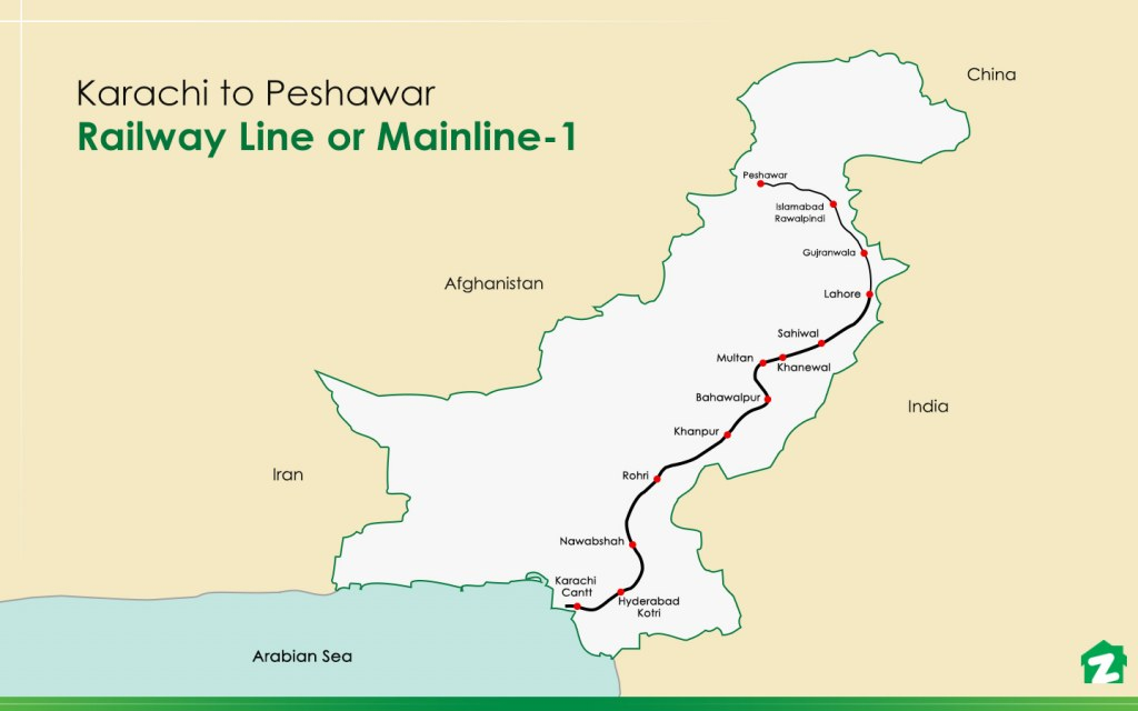 map for ml-1 railway track