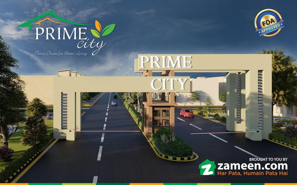 Prime City's majestic entrance