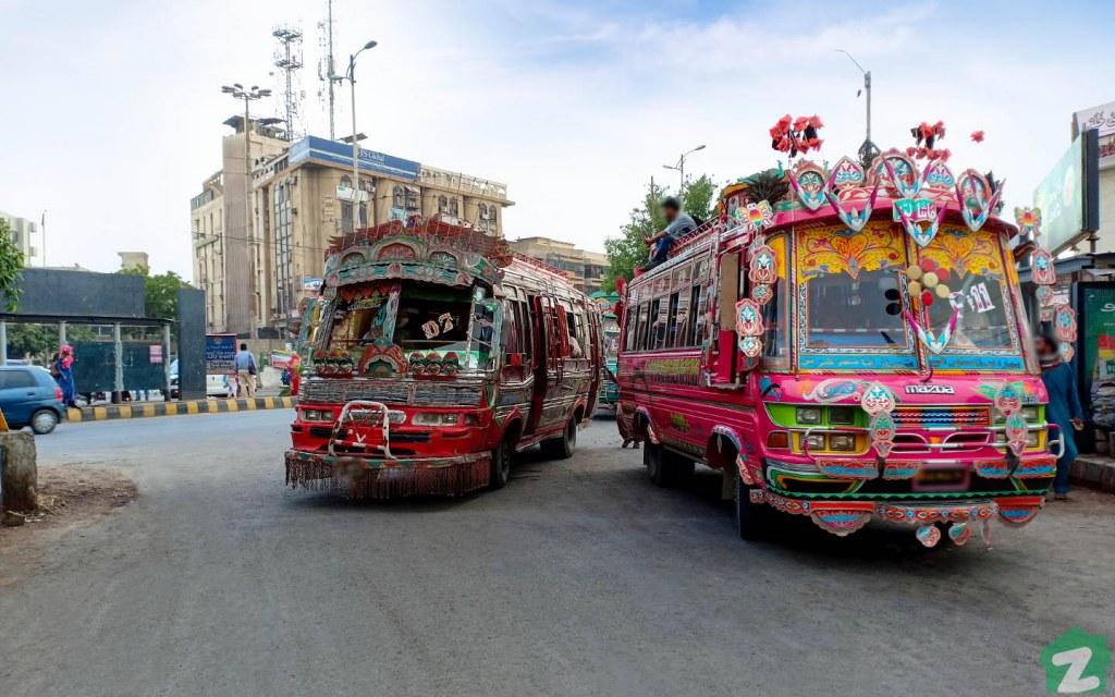 Public transport in Gulshan-e-Iqbal Karachi