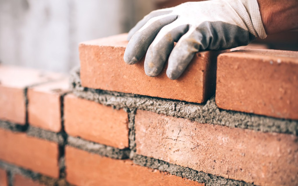 Brick is used in different types of structural constructions in pakistan