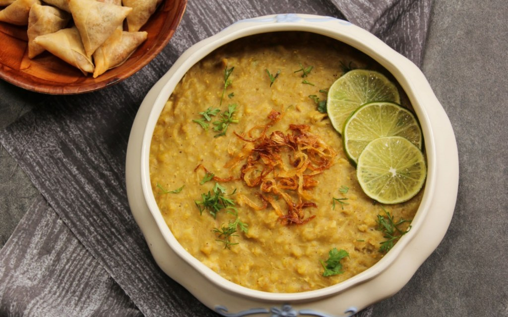 Hareesa is made differently from Haleem and is often eaten with naan