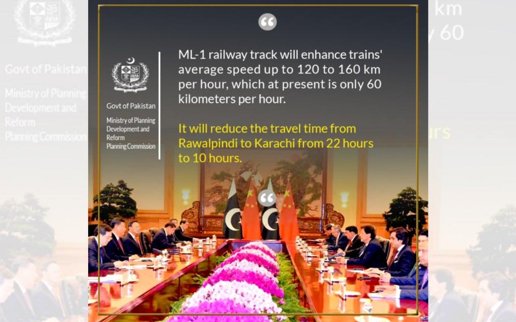 ML-1 to reduce travel time between Karachi and Rawalpindi to 10 hours
