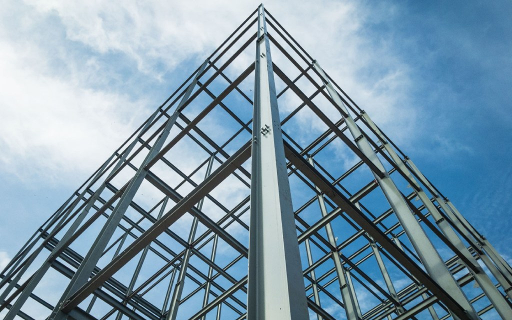 Steel is a rugged material used in structural framework