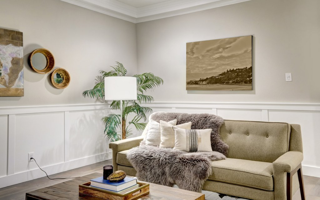 Throw pillows and fuzzy throws can give a cosy feel to your couches