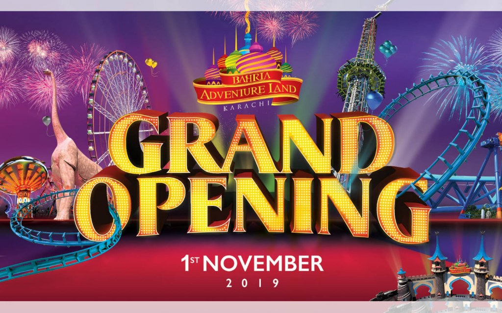 Bahria Adventure Land will open its doors to the public on 1st November 2019