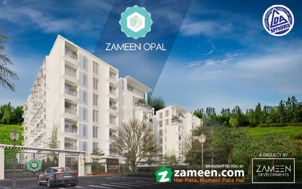 Render image of Zameen Opal building during daytime