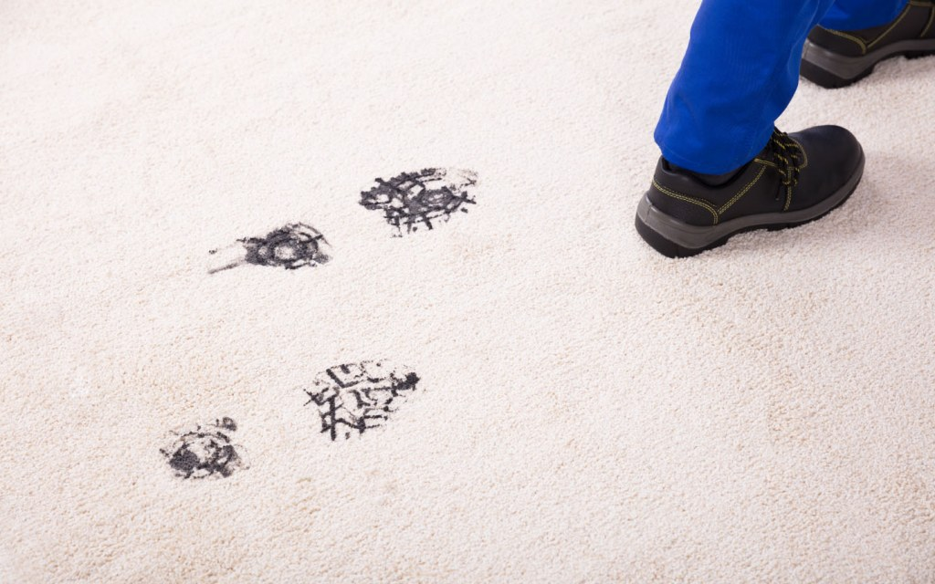 Remove tough stains on carpets with borax