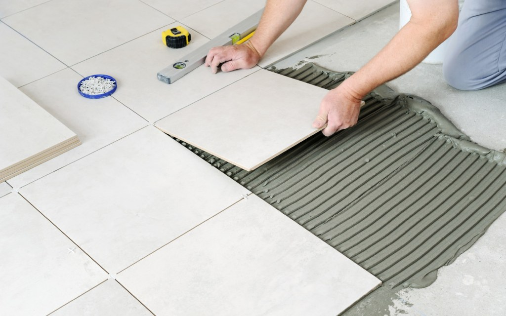 Granite tiles are always cut into shape using a laser