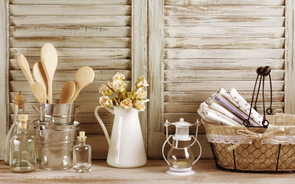 Recycling and up-cycling is the way to go in farmhouse-inspired home decor