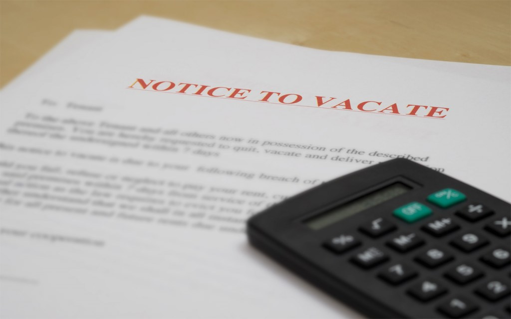 A responsible tenant notifies the landlord as per the rental agreement