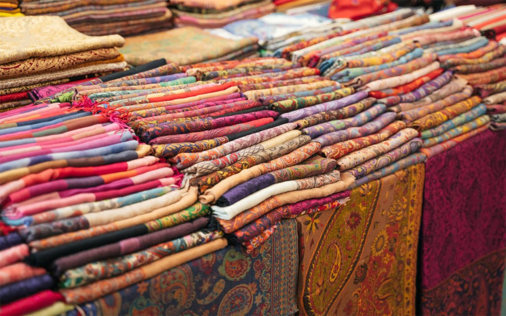 Shawls are the most commonly sold Pakistani souvenir