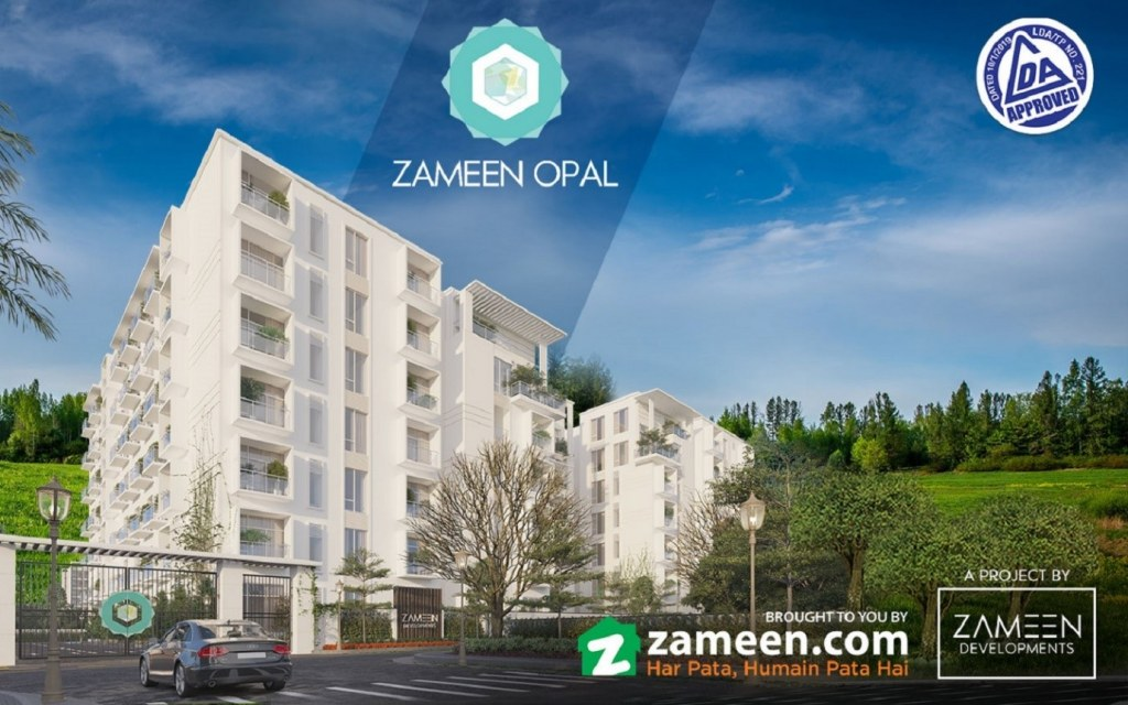 Zameen Opal's apartment building render image